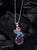 Raw Multi Gemstone Solid 925 Sterling Silver Chain Pendant Jewelry - YoTreasure