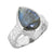 Labradorite Solid 925 Sterling Silver Hammered Finish Ring Jewelry - YoTreasure