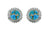 Blue Copper Turquoise Solid 925 Sterling Silver Stud Earrings - YoTreasure