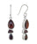 Garnet  Gemstone Solid 925 Sterling Silver Dangle Earrings - YoTreasure