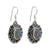 Labradorite Solid 925 Sterling Silver Dangle Earrings - YoTreasure
