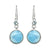 Larimar Blue Topaz Solid 925 Sterling Silver Dangle Earrings - YoTreasure
