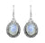 Moonstone Solid 925 Sterling Silver Dangle Earrings Jewelry - YoTreasure