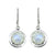 Moonstone Solid 925 Sterling Silver Dangle Earrings - YoTreasure