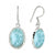 Natural Larimar Solid 925 Sterling Silver Dangle Earrings - YoTreasure
