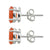 Carnelian Solid 925 Sterling Silver Stud Earrings - YoTreasure