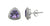 Amethyst Solid 925 Sterling Silver Stud Earrings Jewelry - YoTreasure