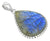 Blue Fire Labradorite Gemstone Pendant Fashion Women Sterling Silver Chain Necklace Jewelry, 18