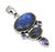 Labradorite Amethyst Solid 925 Sterling Silver Pendant Necklace - YoTreasure