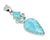 Larimar Blue Topaz Solid 925 Sterling Silver Pendant Necklace - YoTreasure