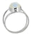 Rainbow Moonstone Solid 925 Sterling Silver Bypass Ring Jewelry - YoTreasure
