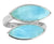 Natural Larimar Solid 925 Sterling Silver Designer Ring Jewelry - YoTreasure