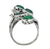 Green Onyx Solid 925 Sterling Silver Bypass Ring Jewelry - YoTreasure