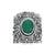 Green Onyx Solid 925 Sterling Silver Designer Ring Jewelry - YoTreasure