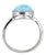 Natural Larimar Ring Solid 925 Sterling Silver Gemstone Jewelry - YoTreasure