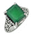 Green Onyx Ring Solid 925 Sterling Silver Gemstone Jewelry - YoTreasure