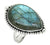 Blue Fire Labradorite Solid 925 Sterling Silver Teardrop Ring - YoTreasure