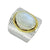 Rainbow Moonstone Solid 925 Sterling Silver Brass Hammered Ring Jewelry - YoTreasure
