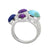 Mohave Turquoise Lapis Solid 925 Sterling Silver Designer Ring Jewelry - YoTreasure