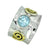 Blue Topaz Solid 925 Sterling Silver Brass Two Tone Ring Jewelry - YoTreasure