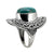 Natural Chrysocolla Solid 925 Sterling Silver Designer Ring Jewelry - YoTreasure