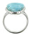 Blue Larimar Ring Solid 925 Sterling Silver Jewelry - YoTreasure