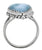 Natural Larimar Solid 925 Sterling Silver Ring Jewelry - YoTreasure