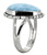 Larimar Solid 925 Sterling Silver Ring Jewelry - YoTreasure