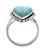 Natural Larimar Solid 925 Sterling Silver Gemstone Ring - YoTreasure