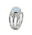Moonstone Solid 925 Sterling Silver Split Shank Ring Jewelry - YoTreasure