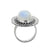 Rainbow Moonstone Solid 925 Sterling Silver Ring Jewelry - YoTreasure