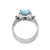 Larimar Swiss Blue Topaz Solid 925 Sterling Silver Designer Ring Jewelry - YoTreasure
