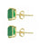 Green Onyx Solid 10K Yellow Gold Stud Earrings - YoTreasure