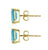 Swiss Blue Topaz Solid 10K Yellow Gold Stud Earrings - YoTreasure