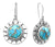 Blue Copper Turquoise Solid 925 Sterling Silver Dangle Earrings - YoTreasure
