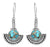 Blue Copper Turquoise 925 Solid Sterling Silver Dangle Earring Jewelry - YoTreasure