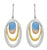 Blue Chalcedony 925 Solid Sterling Silver Brass Earrings - YoTreasure