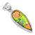 Ammolite 925 Solid Sterling Silver Pendant Necklace Silver Jewelry - YoTreasure