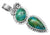 Chrysocolla 925 Solid Sterling Silver Pendant Necklace Silver Jewelry - YoTreasure