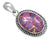 Purple Copper Turquoise 925 Solid Sterling Silver Pendant Necklace Jewelry - YoTreasure