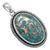 Blue Copper Turquoise 925 Solid Sterling Silver Pendant Necklace Silver Jewelry - YoTreasure