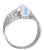 Rainbow Moonstone Solid 925 Sterling Silver Hammered Ring Jewelry - YoTreasure