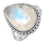 Rainbow Moonstone 925 Sterling Silver Rings Silver Jewelry - YoTreasure