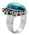 Natural Chrysocolla 925 Sterling Silver Rings Silver Jewelry - YoTreasure