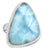 Natural Larimar 925 Sterling Silver Rings Silver Jewelry - YoTreasure
