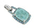 2.69 Ct. Larimar Solid 925 Sterling Silver Chain Pendant - YoTreasure