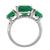 5.85 Ct. Green Onyx Solid 925 Sterling Silver Ring Jewelry - YoTreasure