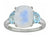 5.86 Ct Moonstone Sky Blue Topaz Solid 925 Sterling Silver Ring Jewelry - YoTreasure