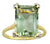 6.81 Ct Green Amethyst Solid 14k Yellow Gold Ring Jewelry - YoTreasure