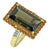 Smoky Quartz Citrine Solid 925 Sterling Silver 18k Gold Plated Designer Ring Jewelry - YoTreasure